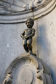 BRUSSELS - NOVEMBER 22: Manneken Pis, the iconic statue in Brussels, capital of Belgium. It works ev
