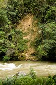 foto of landslide  - Landslide and erosion in jungle of Ecuador - JPG