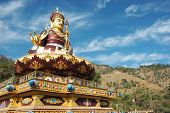 picture of guru  - Big golden statue of Padmasambhava or Guru Rinpochewho is recognized as the second Buddha of this age - JPG