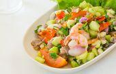 Kale With Prawn Salad Thai Food