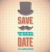 Vintage salvar o cartão de casamento data