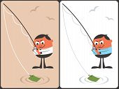 Businessman Fishing Concept