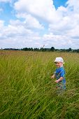 Boy On Meadow