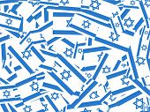 picture of israeli flag  - Jumbled up israeli flag wallpaper background design - JPG
