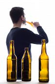 Man And Beer Bottles