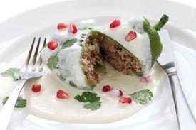 image of poblano  - chile en nogada - JPG