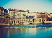 stock photo of turin  - Vintage looking Murazzi del Po  - JPG