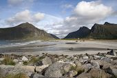 Flakstad Beach On The Lofoten Islands, Norway