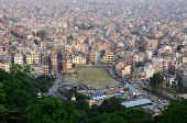 View Of Nepalese Capital Kathmandu From Monkey Temple (swayambhunath Complex),asia