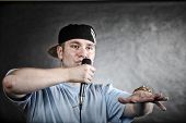 image of rapper  - Rapper attitude rap singer hip Hop Dancer performing - JPG