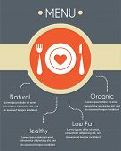 menu template for helthy restaurant, infographics