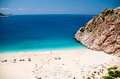 Kaputas beach, Turkey located between the towns of Kas and Kalkan