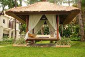 Gazebo At A Resort In Bali
