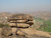 Granite Boulder Shaped Like A Burger