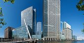 image of hsbc  - Financial district bank buildings in Canary wharfLondon - JPG