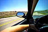 stock photo of car ride  - Driving Thru Summer - JPG