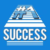 Success Blue Number 1 Square