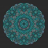 pic of indian blue  - Beautiful aqua ornamental background - JPG