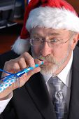 Senior Businessman Christmas Party