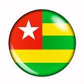 Button Flag Of Togo