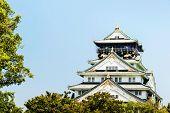 Osaka Castle Front View Landscape