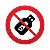 picture of usb flash drive  - Usb Stick sign icon - JPG