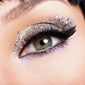 Woman Eye With Fashion Makeup