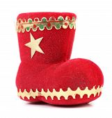 Christmas gift red boot.