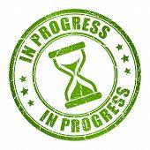 In progress vector stamp
