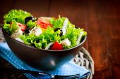 stock photo of greek  - Greek Salad - JPG
