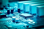 picture of microprocessor  - close - JPG