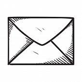 Message or letter symbol.
