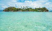 Tropical Island And Blue Lagoon