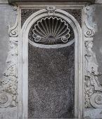 stock photo of niche  - An empty niche that would normally hold a statue situated within the Roman Forum grounds in Rome Italy - JPG