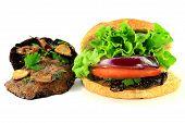 Grilled Portobello Mushrooms And Burger