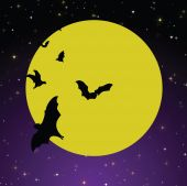 Spooky Moon Background