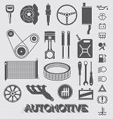 Vector Set: Automotive Parts and Icons