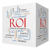 Roi 3D Cube Word Cloud Concept