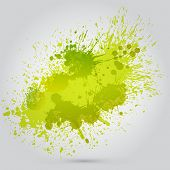 Vector green vintage watercolor texture with blotches