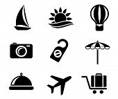 Set of travel and tourism icons