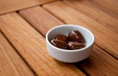 Chocolate Balls In A White Dish