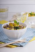Quinoa with vegetables and pineapple