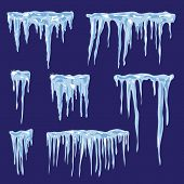 Icicles, vector set illustration for your design