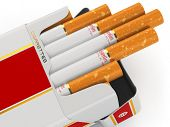 Generic cigarette pack on white background. 3d