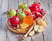 Pomegranate, Apples And Honey