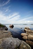 Stone Coast Of The Lake.