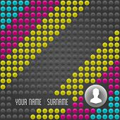 Colorful Vector Dotted Background. Personal CMYK Wall. Vector EPS10 Concept Illustration