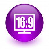 16 9 display internet icon