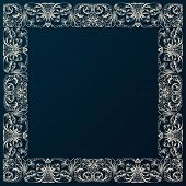 Vintage border framework decor. Baroque design with retro ornament