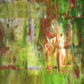 Green oil painting